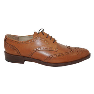Light Brown Wingtip Derby Men Shoe
